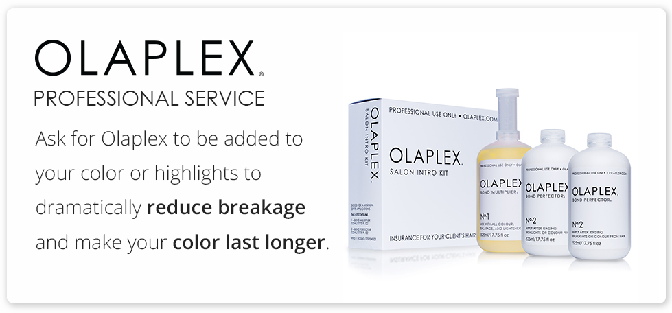Olaplex conditioning reconstructive treatment for color treated, damaged hair.